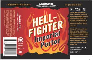 Karbach Hell Fighter label