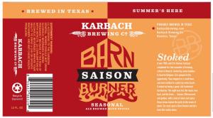 Karbach Barn Burner label