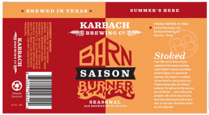 Karbach Barn Burner label