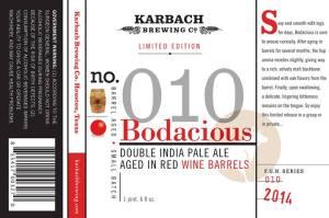 Karbach Bodacious label