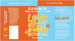 Karbach Summer Love Street label