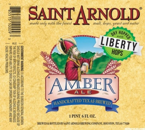 Saint Arnold Amber Ale with dry hops