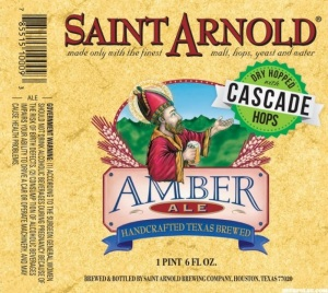 Saint Arnold Amber Ale with Cascade hops